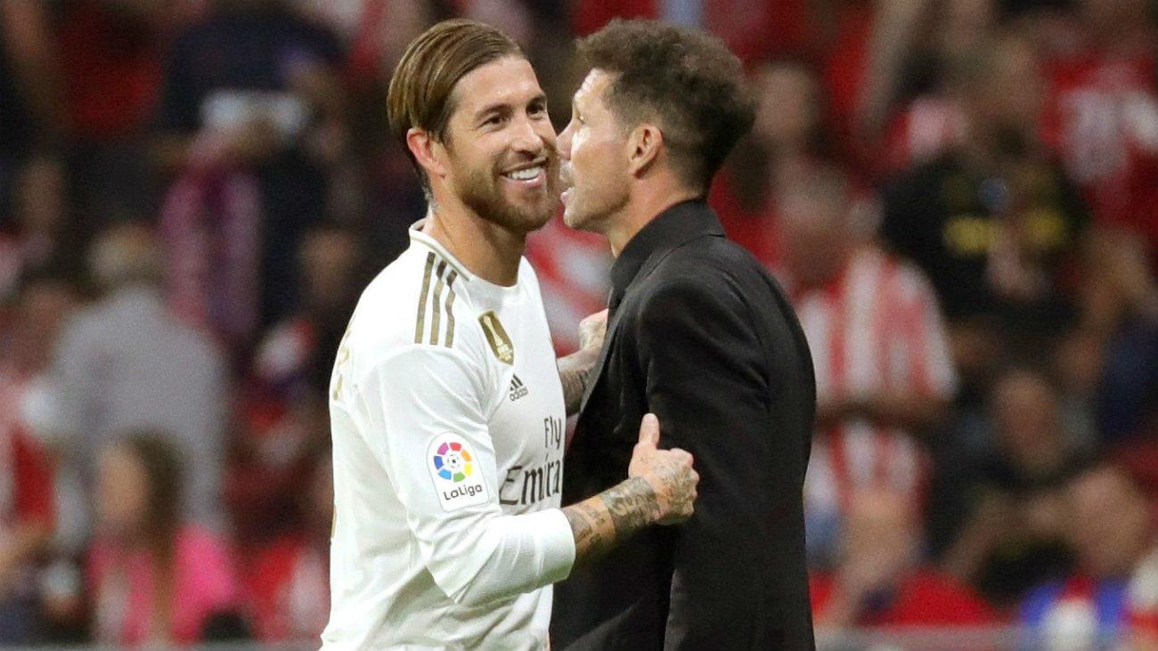 Sergio Ramos y Simeone