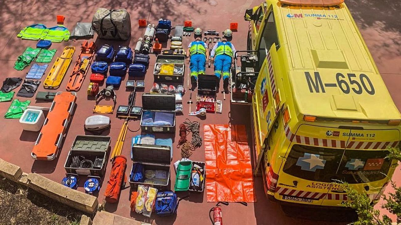 Material sanitario de ambulancia