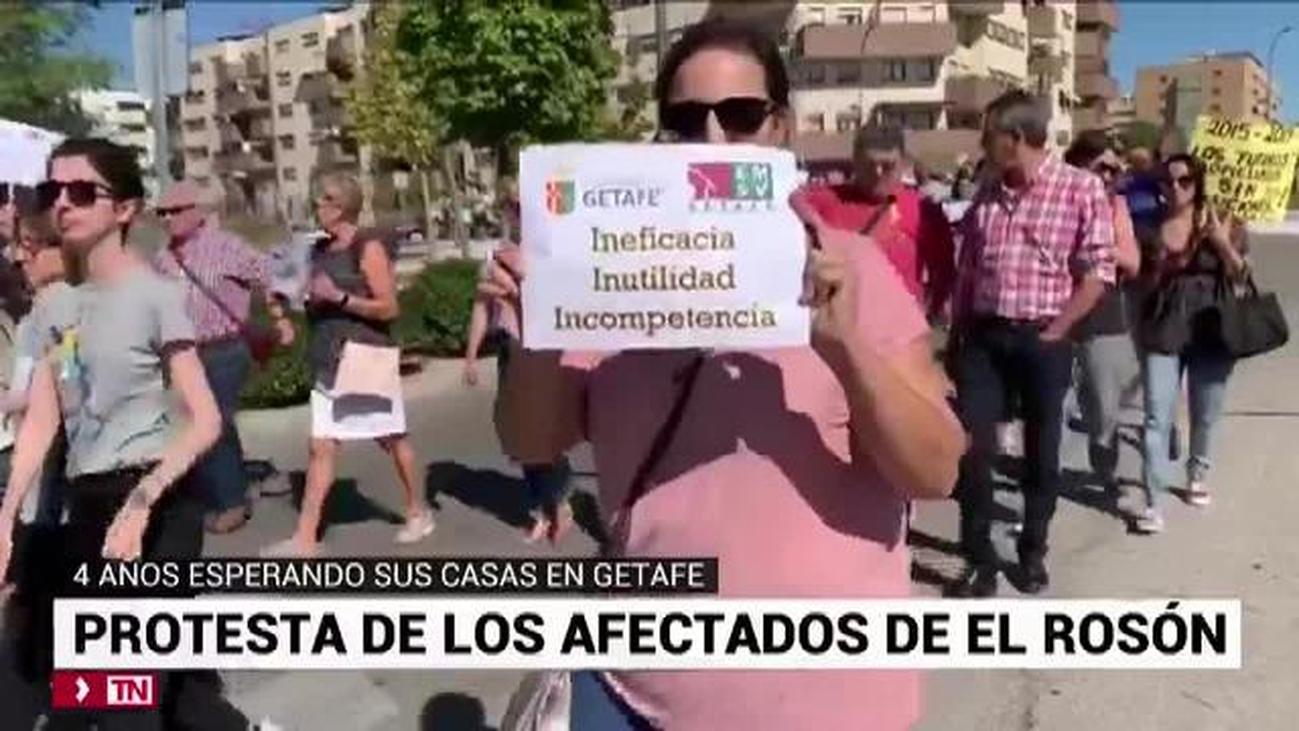 Los afectados del Rosón en Getafe llevan 4 años esperando sus casas
