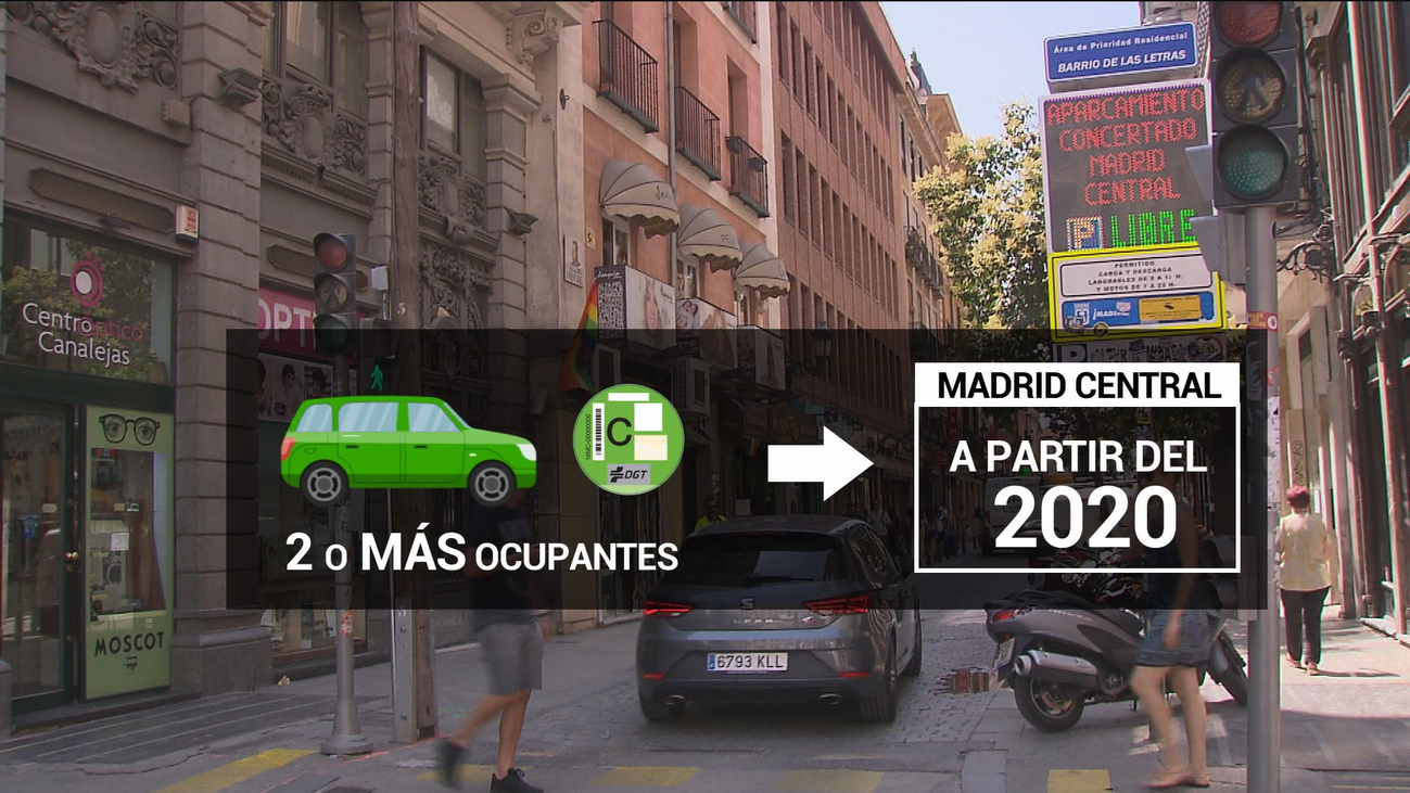 Vehículos con dos o más ocupantes y etiqueta C podrán acceder a Madrid Central