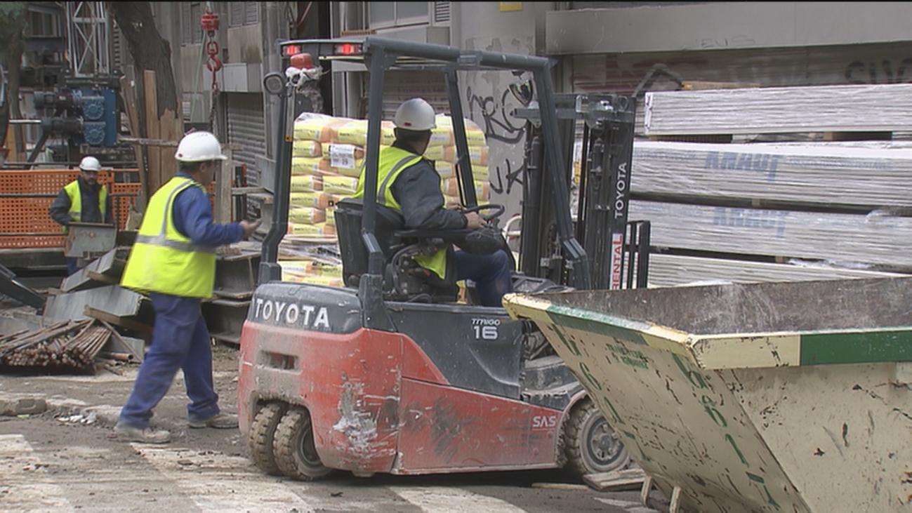Los accidentes en el sector de la construcción suben un 14% en Madrid en un año