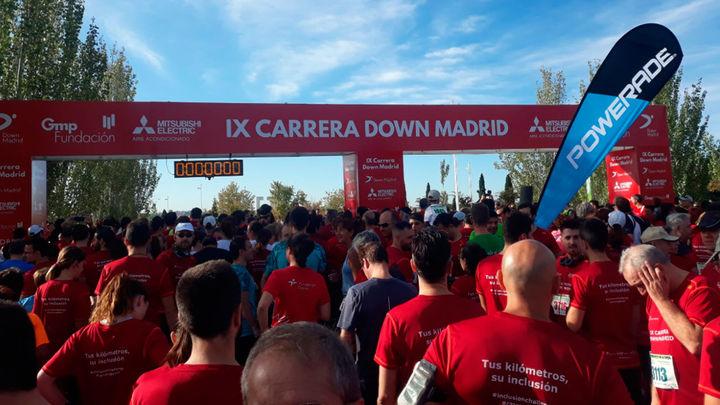 La carrera Down Madrid recorre la capital bajo el lema 'Tus kilómetros, su inclusión'