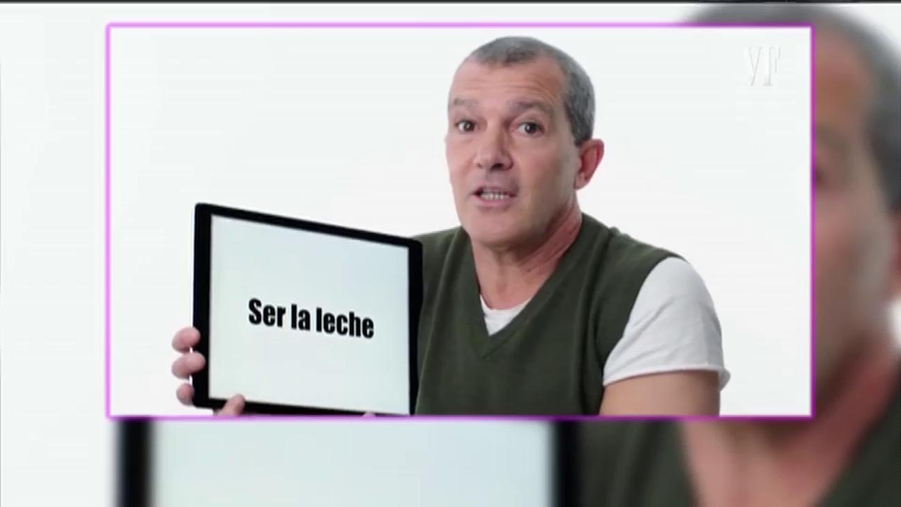 """Antonio Banderas y la divertida jerga española: """"Ser la leche es ser el mejor"""""""