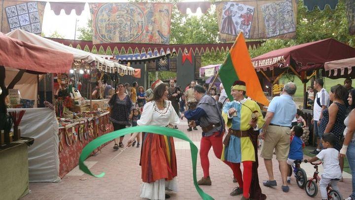 Mercado medieval en el centro de Tres Cantos