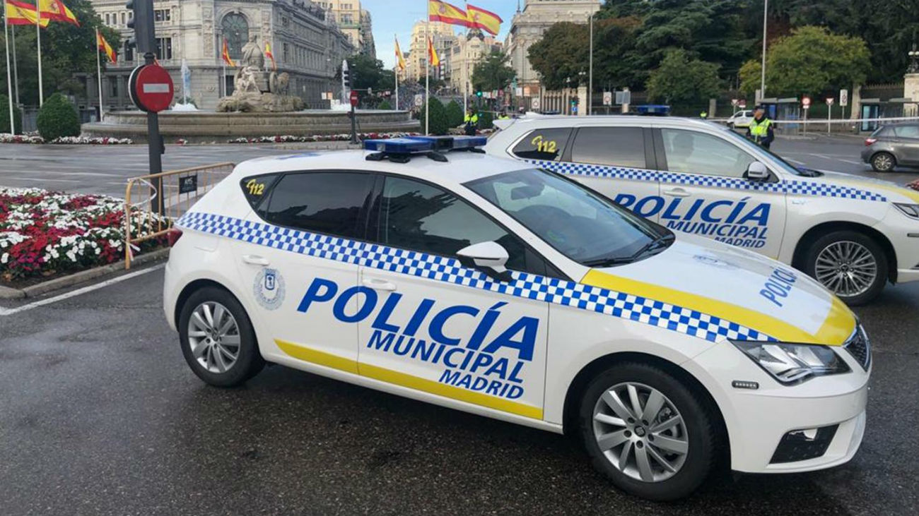 Policía Municipal en la Plaza de Cibeles