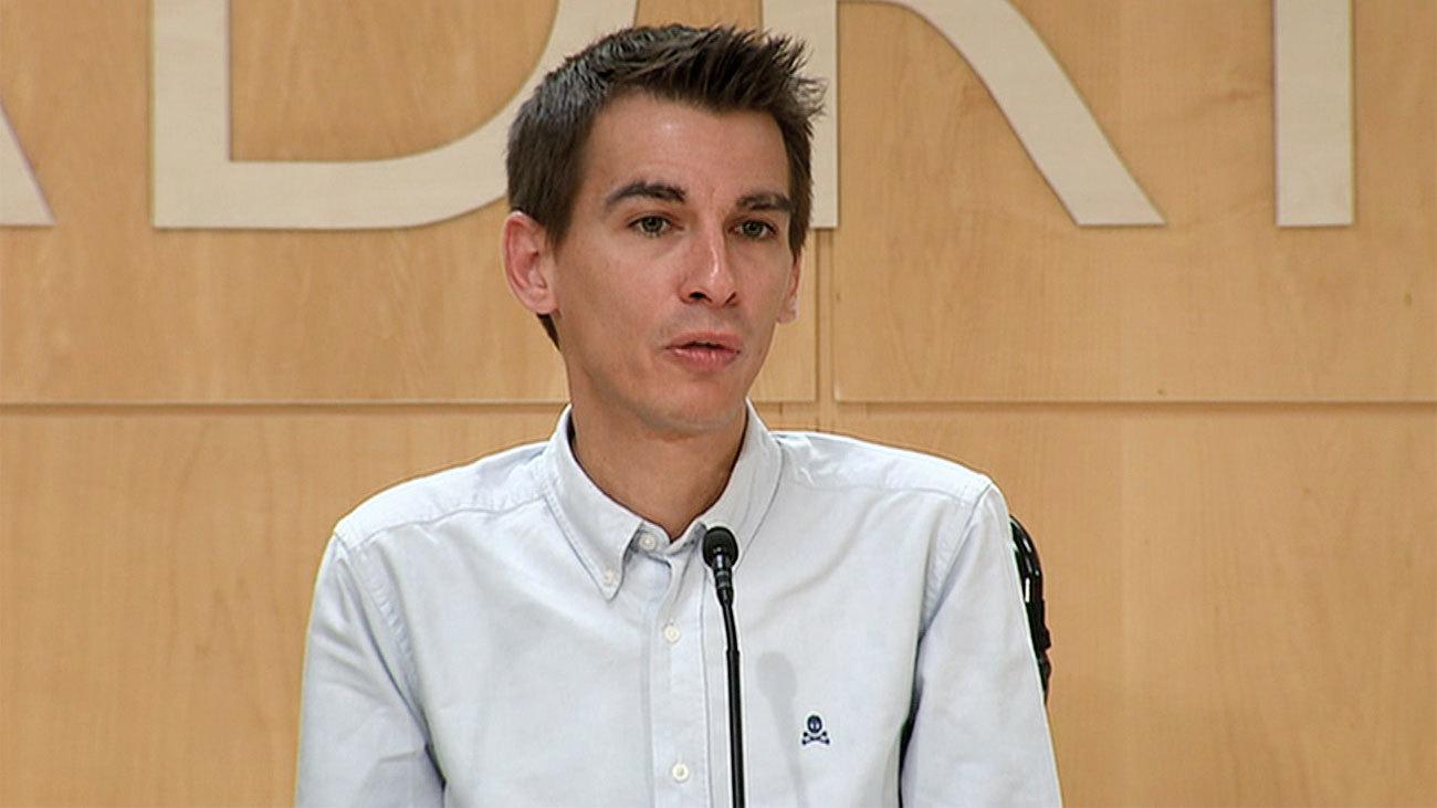 El concejal de Más Madrid,  Pablo Soto