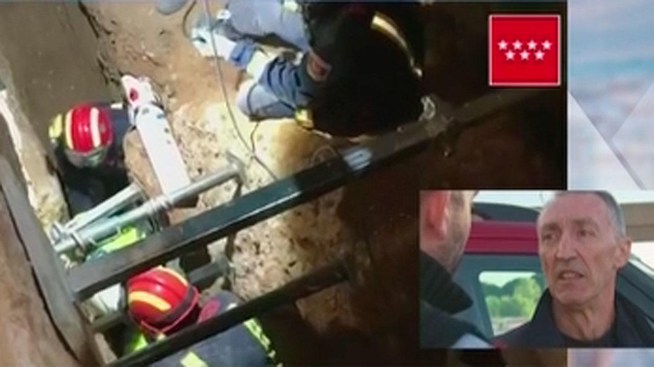 Así fue el angustioso rescate del trabajador sepultado 8 horas en una zanja en Torrejón