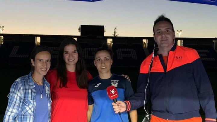 """Nati flores, capitana del Leganés: """"Jugar en Butarque es un regalo"""""""