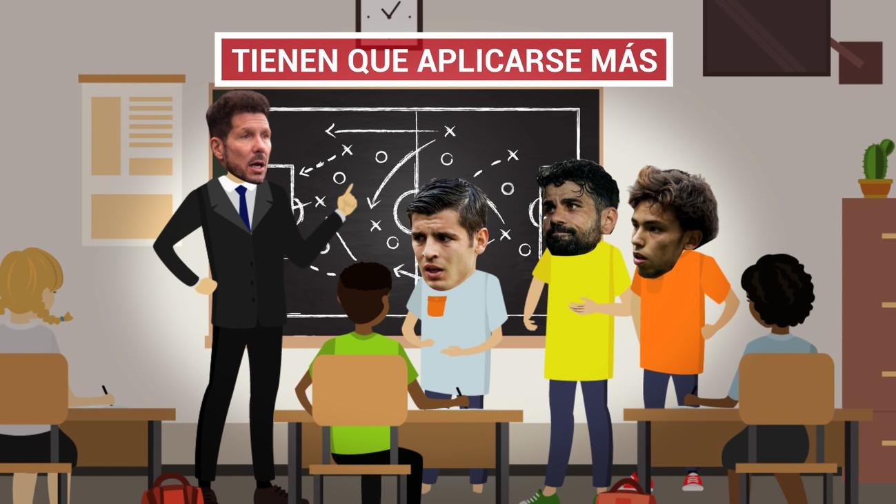 Simeone pide mejorar a Joao Félix, Morata y Diego Costa