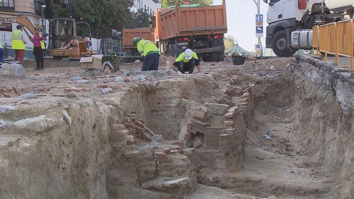 Los restos de la calle Bailén corresponden a los sótanos del Palacio de Godoy
