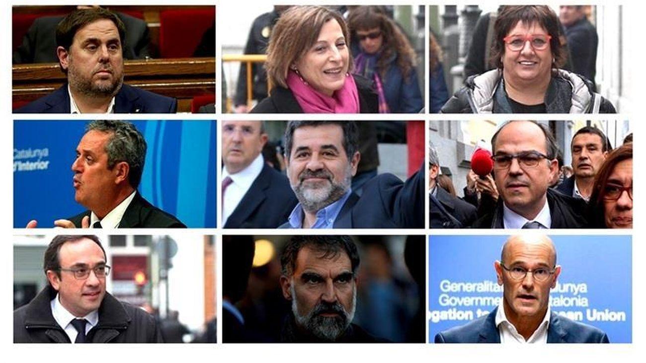 Condenas de hasta 13 años para los líderes del procés por sedición y malversación