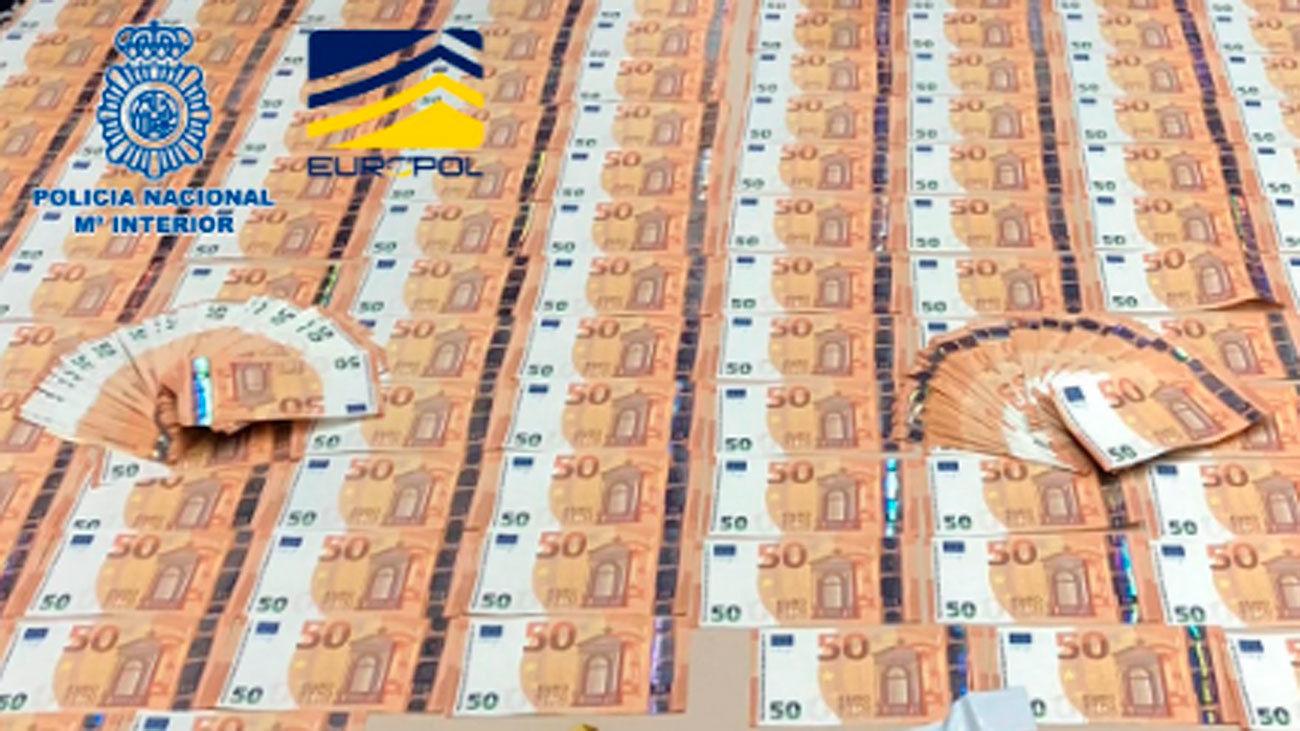 Desmantelada en Madrid una organización que distribuía billetes falsos por toda España