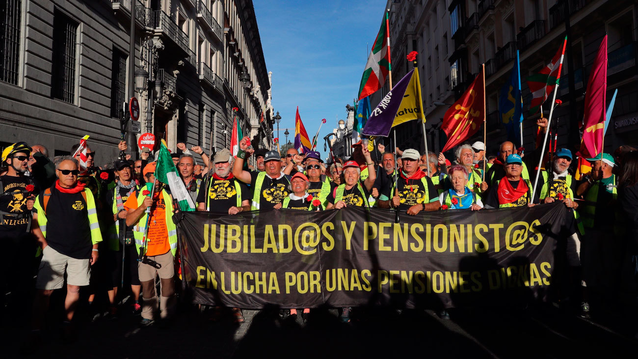 Las marchas por las pensiones dignas llegan a las  puertas del Congreso
