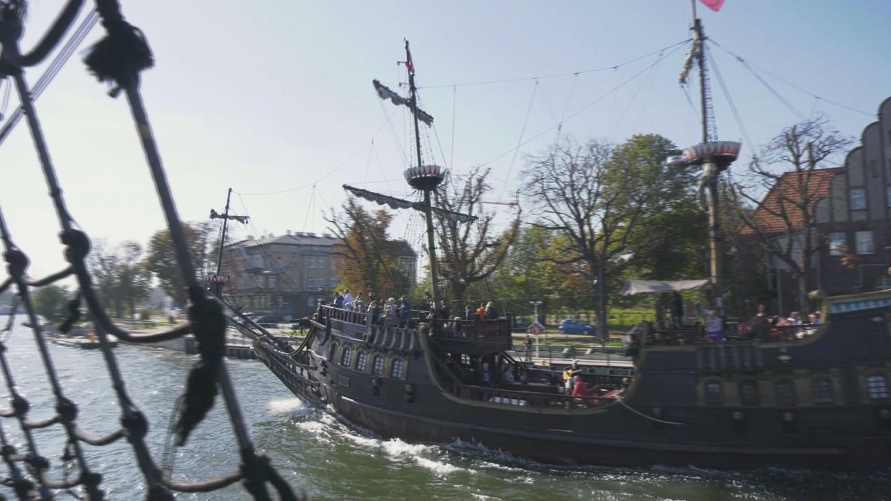 A bordo de 'La Perla Negra' para visitar Westerplatte
