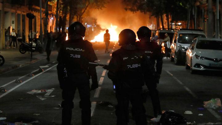 Heridos 288 policías en los disturbios en Cataluña esta semana