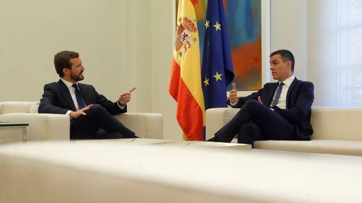Pedro Sánchez y Pablo Casado se reunirán el próximo lunes en la Moncloa