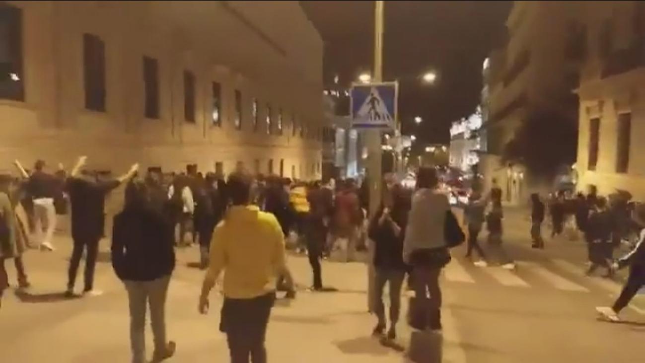 Tres detenidos por desórdenes públicos y atentado en Madrid