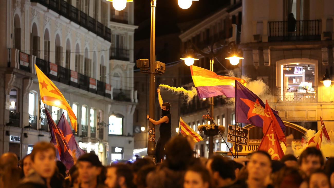 Así fue la noche de tensión en Madrid tras la protesta de apoyo a los líderes del 'procés'
