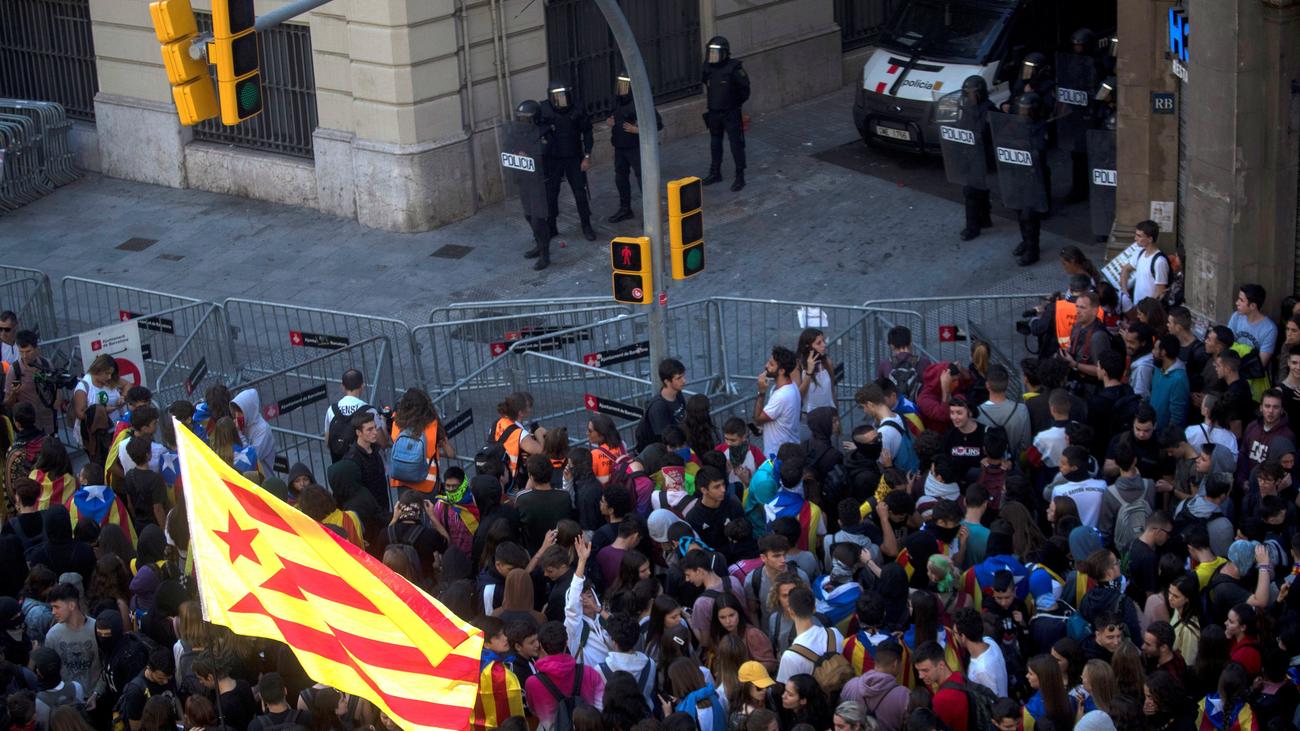 El día después en Cataluña tras la batalla campal