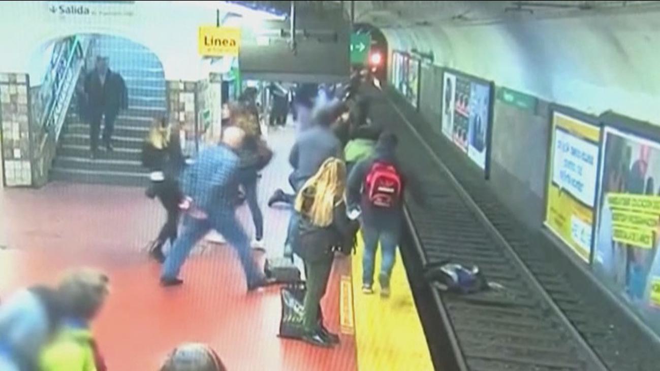 Susto en el Metro de Buenos Aires
