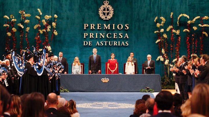 Histórica ceremonia de los premios Princesa de Asturias