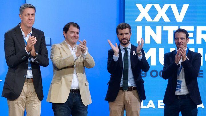 """Casado exige a Sánchez romper con ERC y JxCAT y poner """"orden ya"""" en Cataluña"""