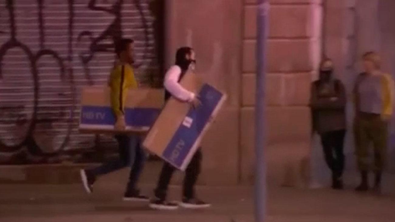 Los disturbios han causado daños en Barcelona por valor de más de 2,5 millones de euros