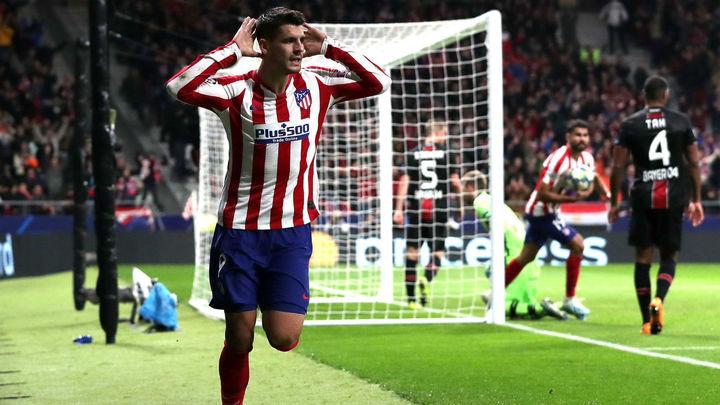 1-0. Morata rescata al Atlético ante el Bayer Leverkusen