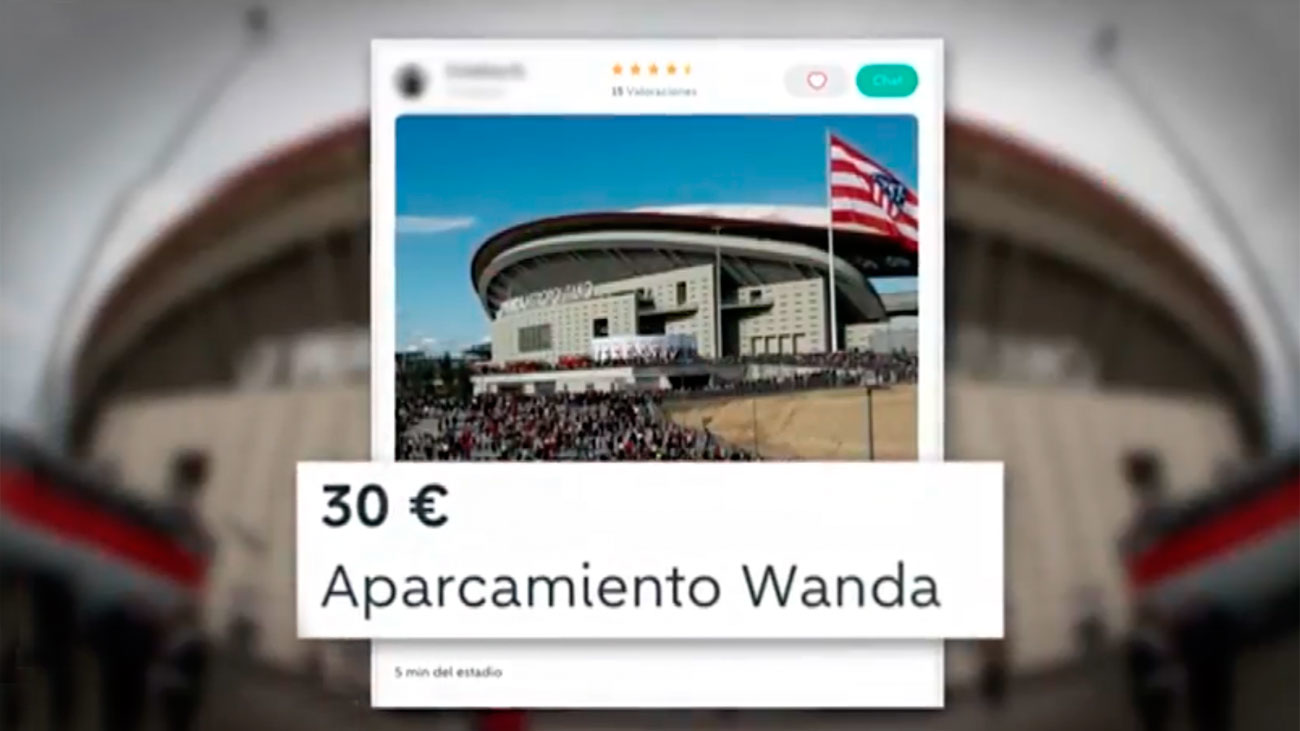 Vecinos del Wanda hacen negocio con espacios públicos de aparcamiento