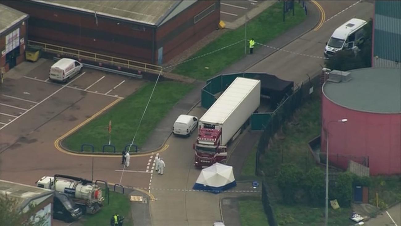 El camión hallado en Reino Unido con 39 cadáveres procedía de Bélgica, según la policía