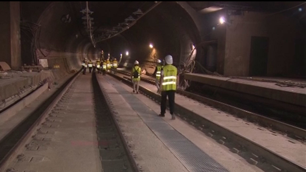 El túnel de Recoletos durante las obras de reforma