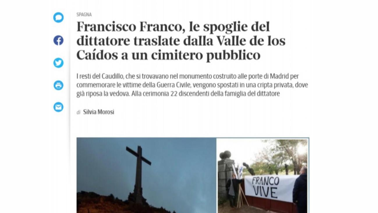 Amplio despliegue de los medios internacionales a la exhumación de Franco