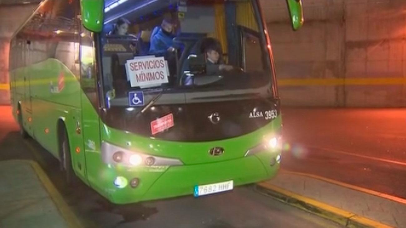 Ataques a los autobuses interurbanos en huelga de la sierra de Madrid