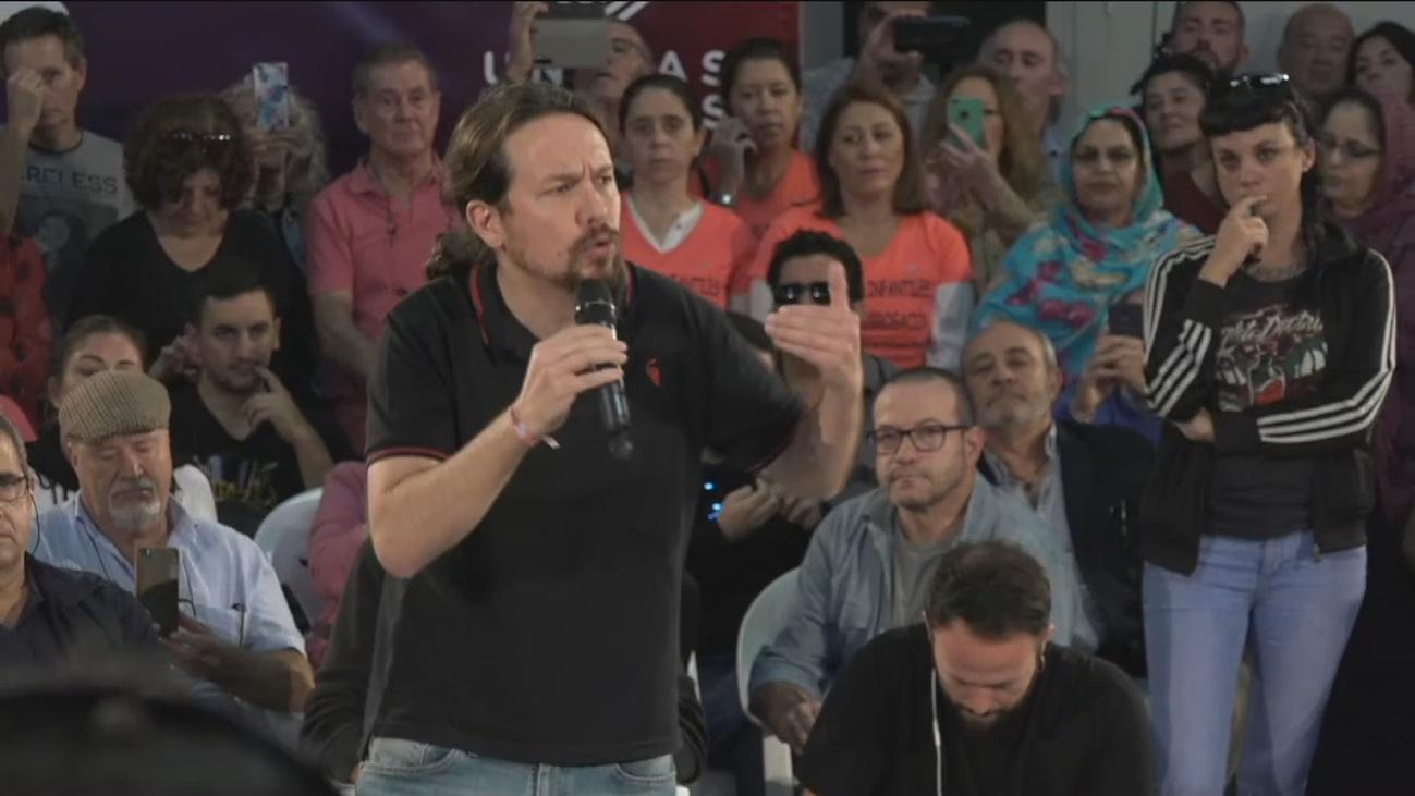 Iglesias cree que el objetivo de Sánchez es pactar con el PP los recortes que Bruselas exige