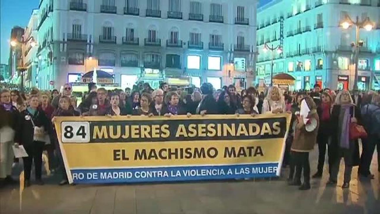 Concentración en la Puerta del Sol contra la violencia machista