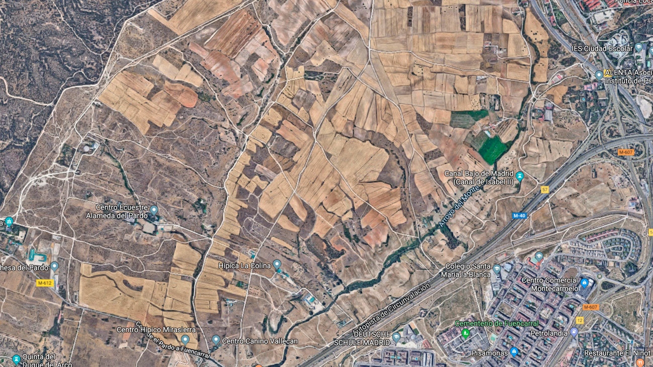 Mapa satélite de Fuencarral-El Pardo