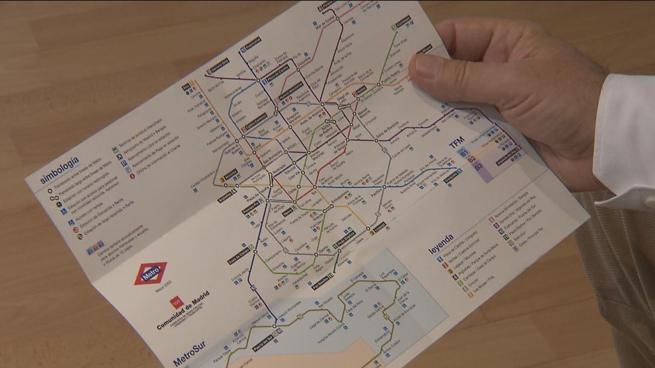 El antes y el después del mapa de Metro de Madrid