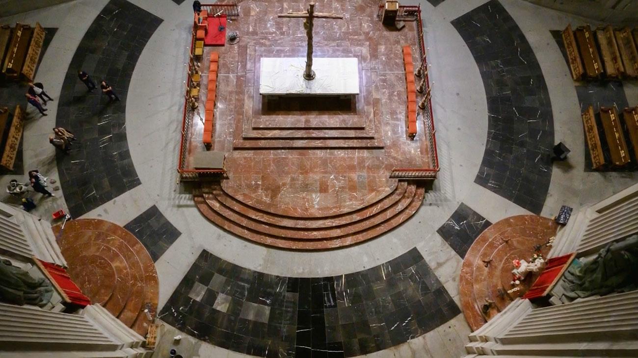 Las imágenes del interior del Valle de los Caídos tras la exhumación de Franco