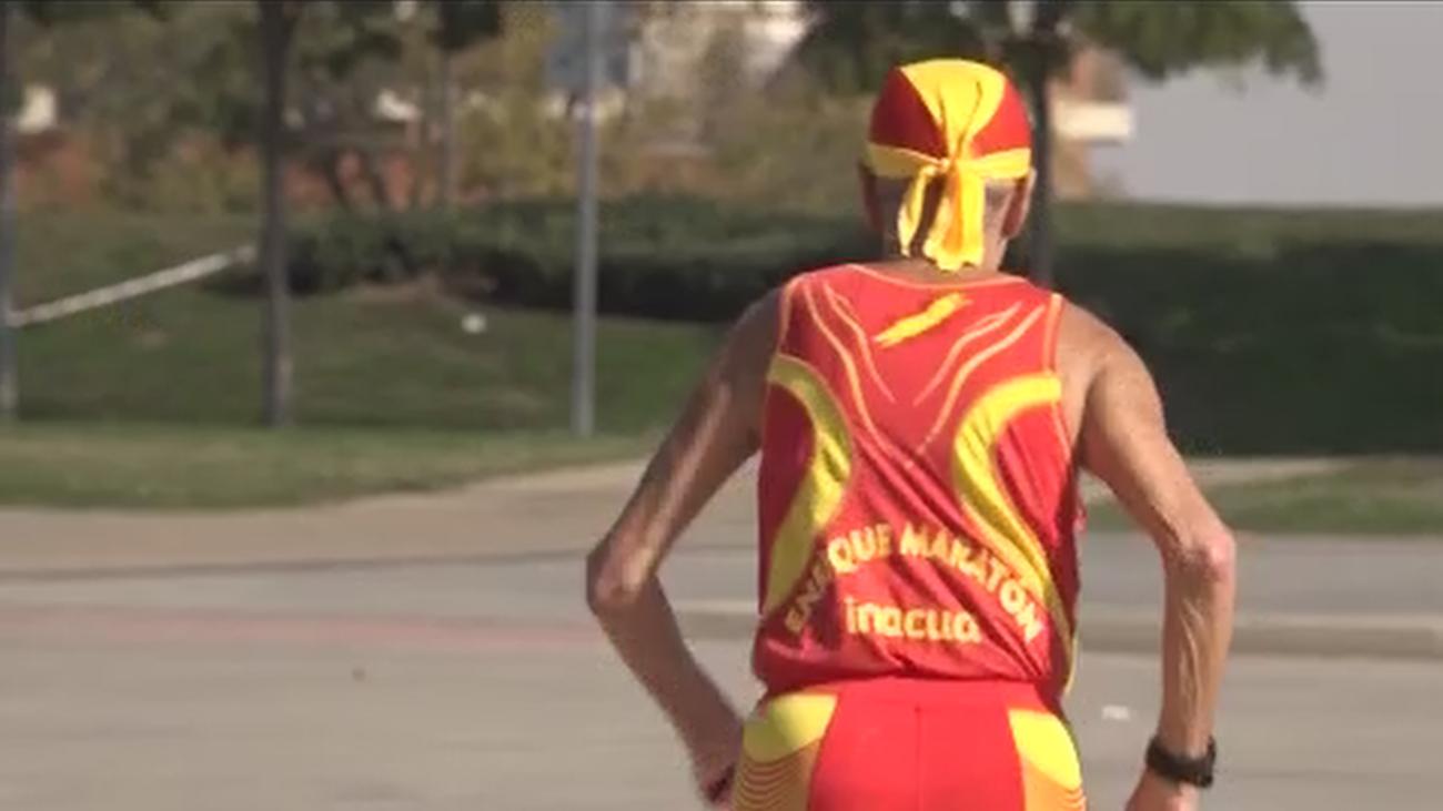 Enrique, el abuelo maratoniano de Alcorcón