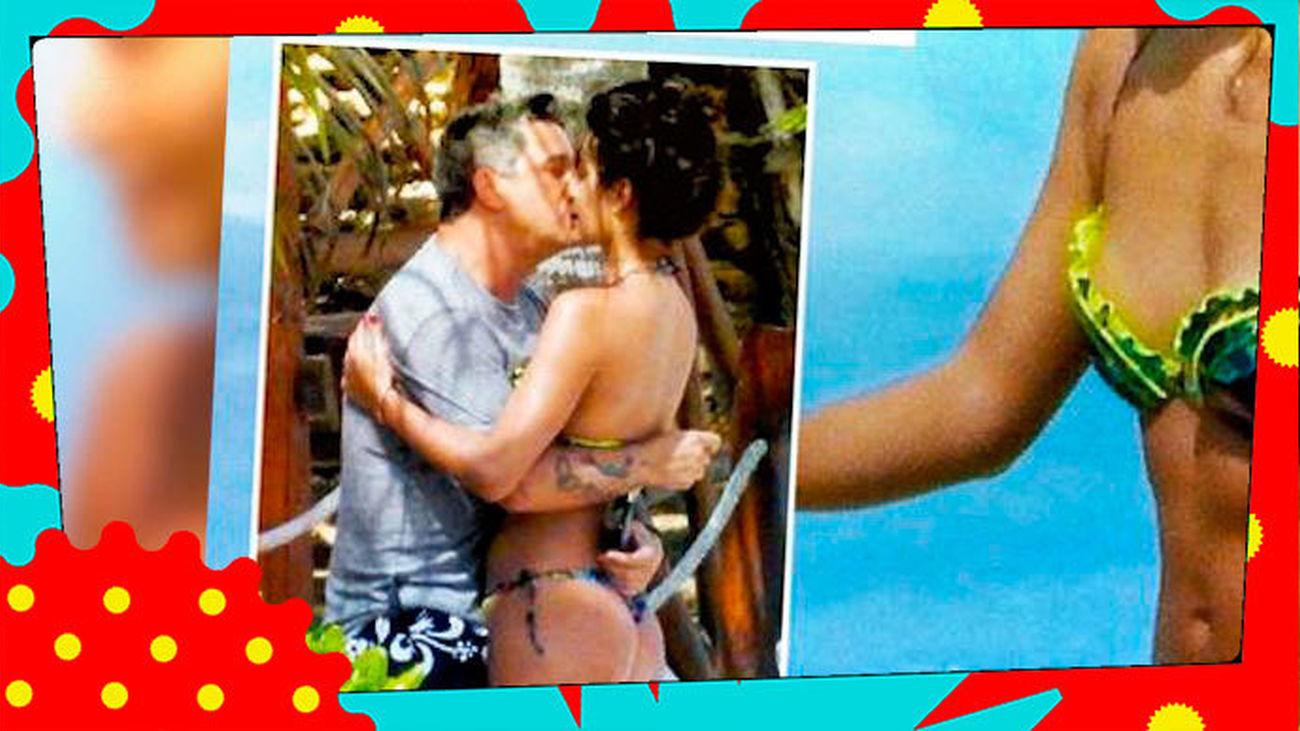 ¡Pillan a Alejandro Sanz besándose con su nueva novia, Rachel Valdés!