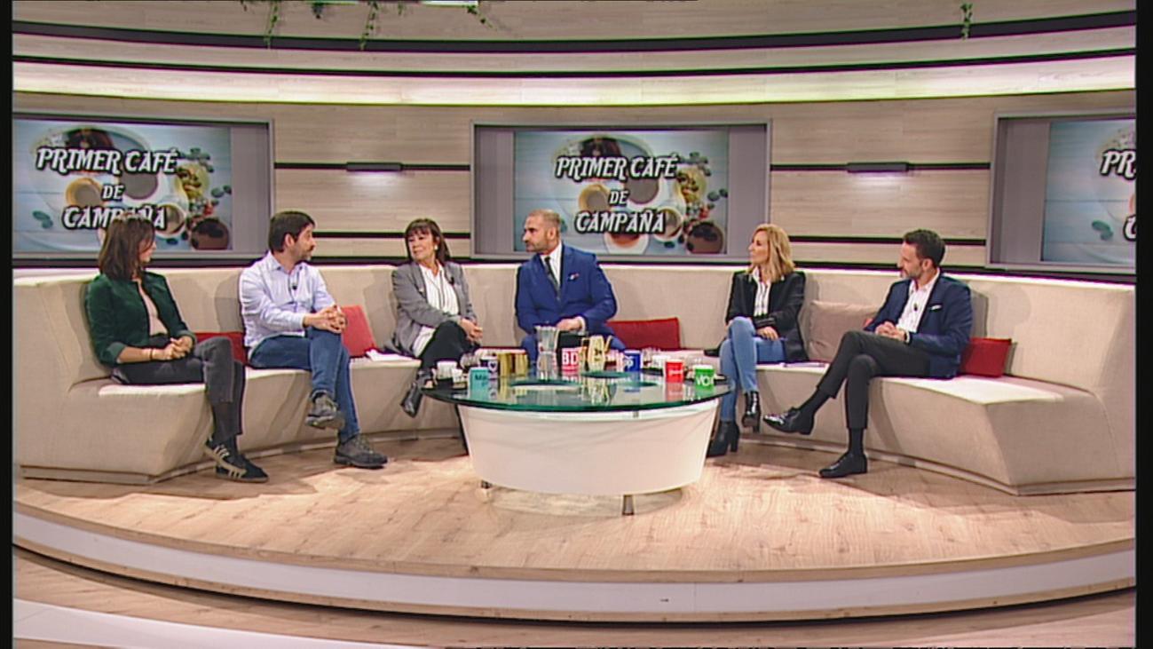 Un café en Telemadrid para estrenar la campaña electoral del 10-N