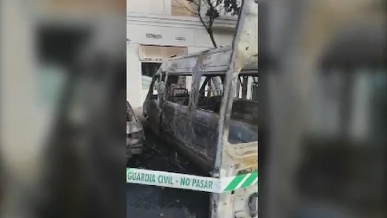 Explota una furgoneta en Villanueva de la Cañada