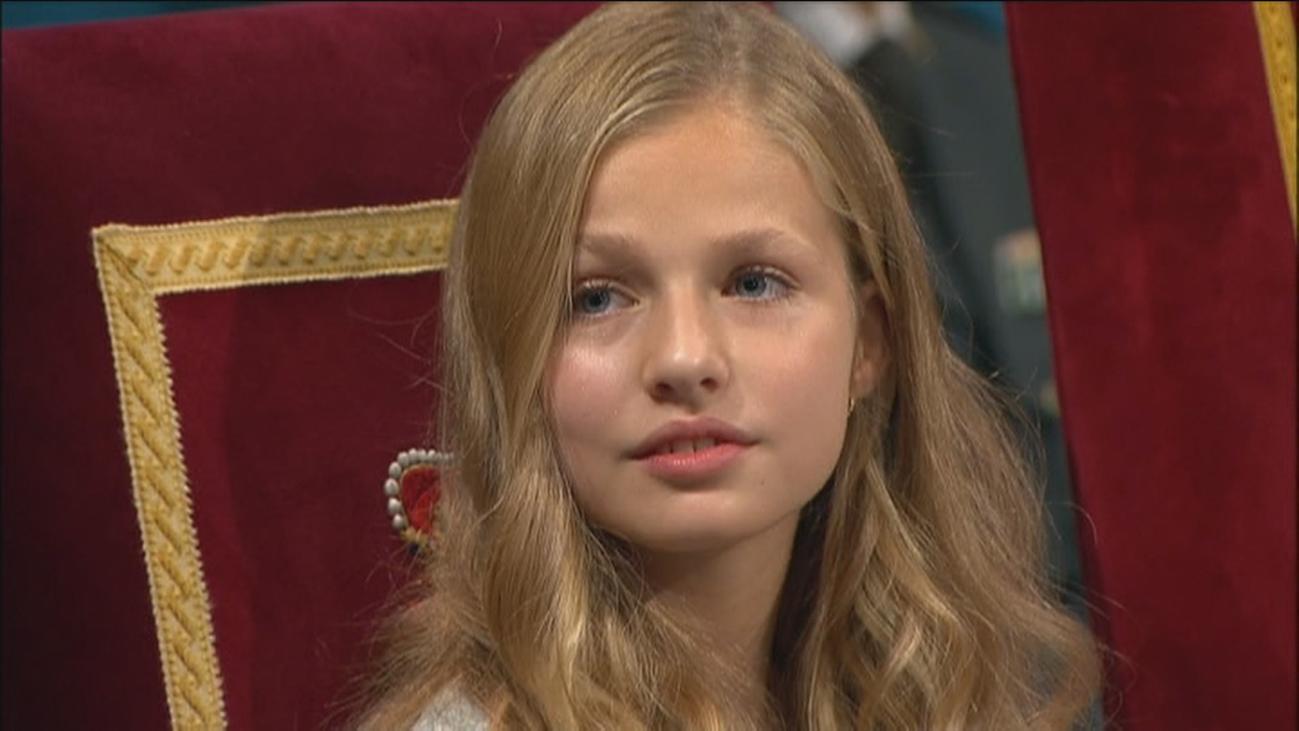 Estreno de la infanta Leonor en Cataluña en la entrega de los premios Princesa de Gerona