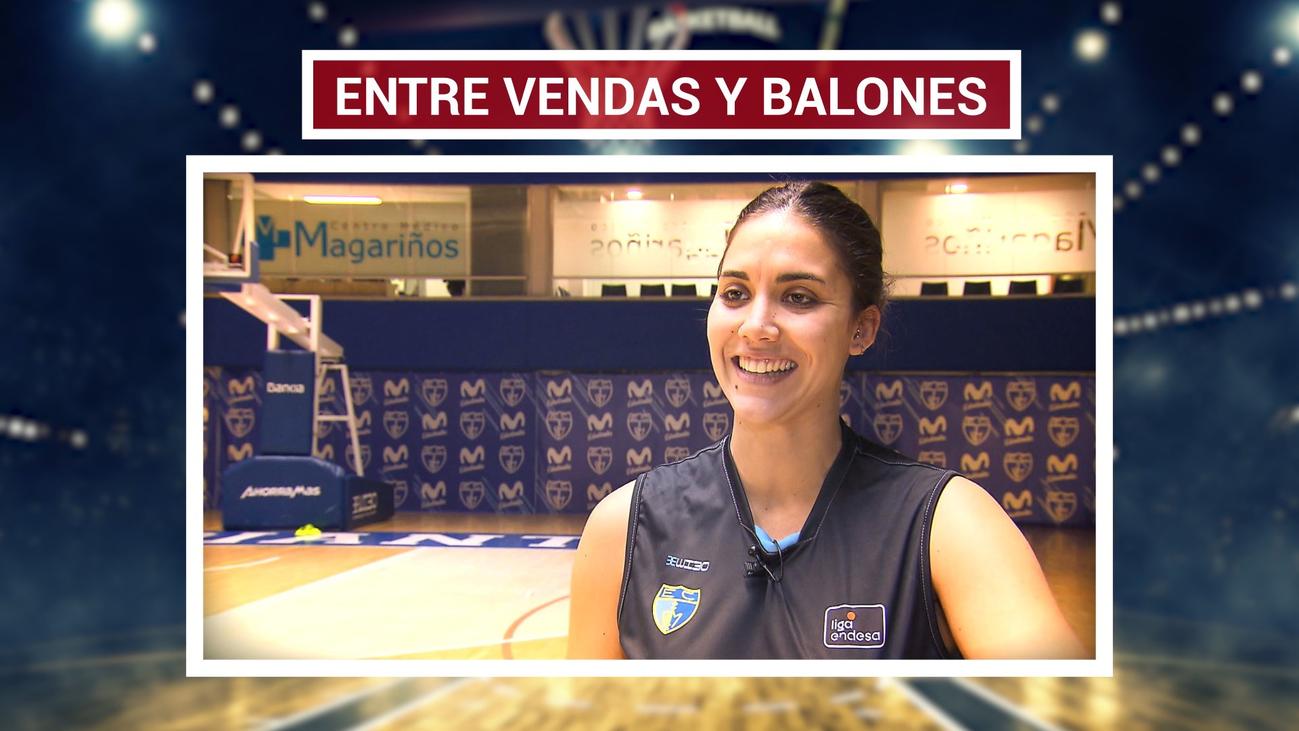 Irene San Román, enfermera y jugadora del Estudiantes