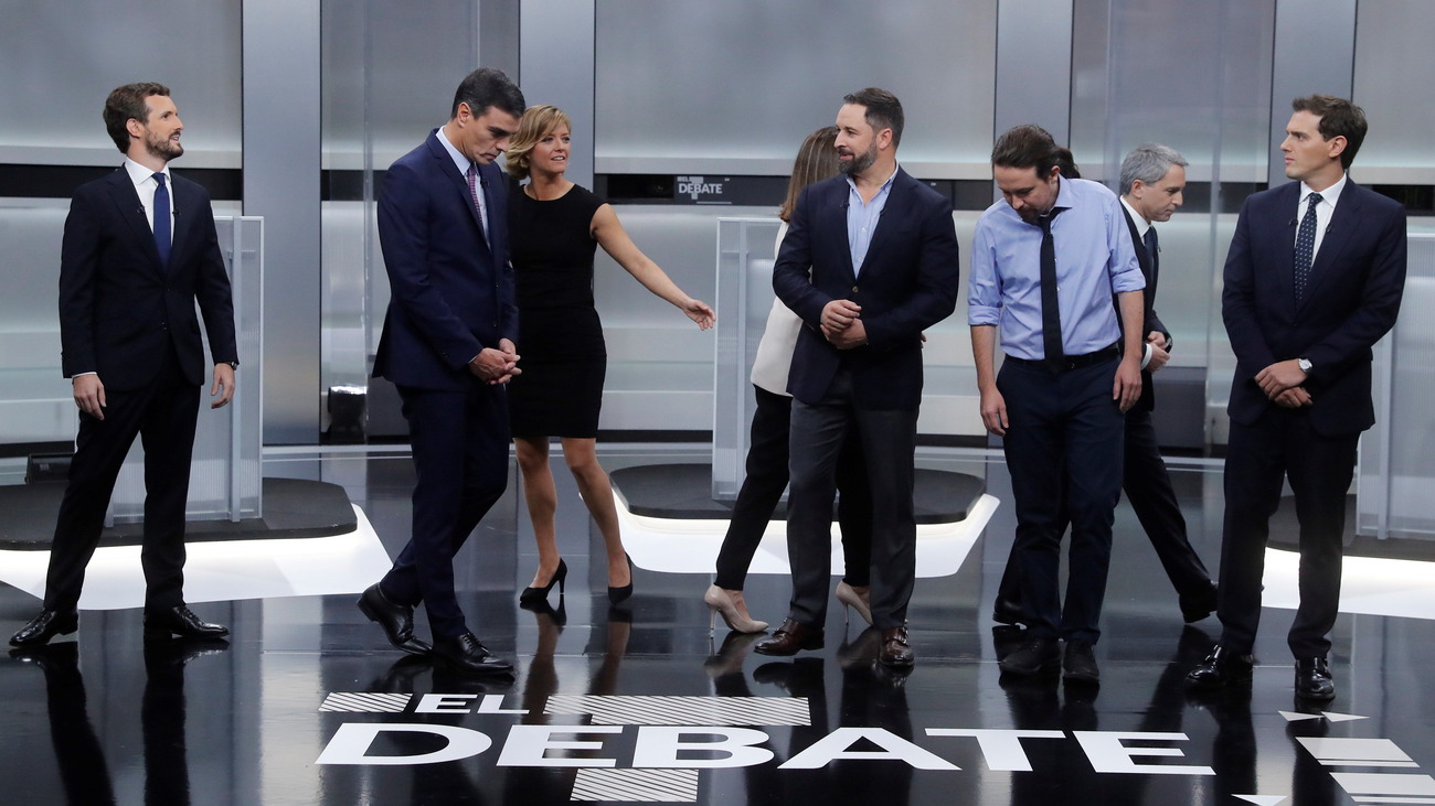 Un debate electoral lleno de gestos y miradas