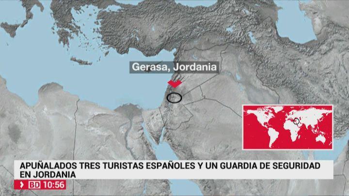 Apuñalamiento múltiple a turistas en unas ruinas romanas de Jordania