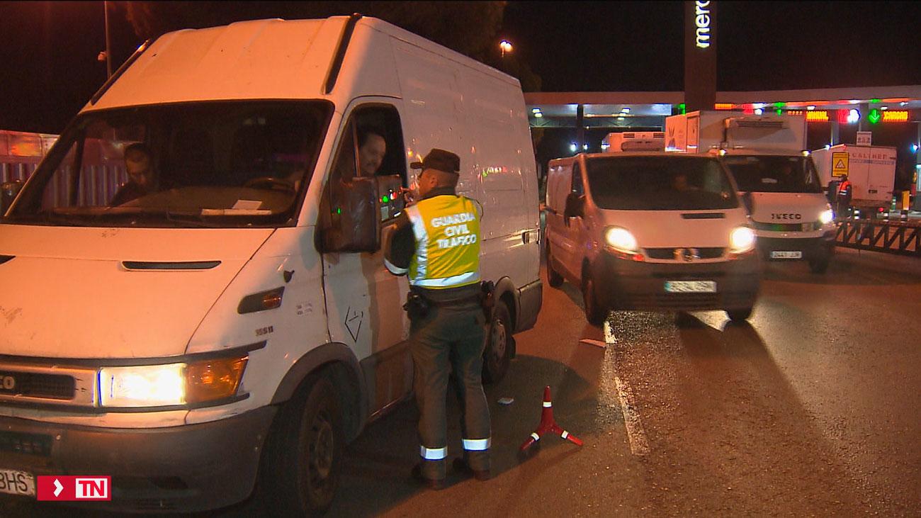 Aumentan los controles  a furgonetas en Madrid