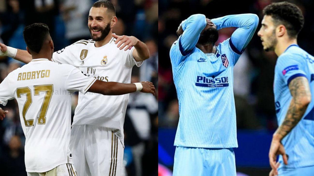 Cara y cruz para el Real Madrid y Atlético en la Champions