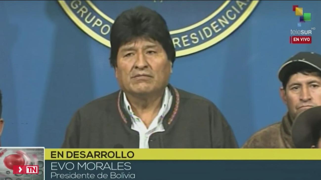 Evo Morales anuncia la repetición de las elecciones