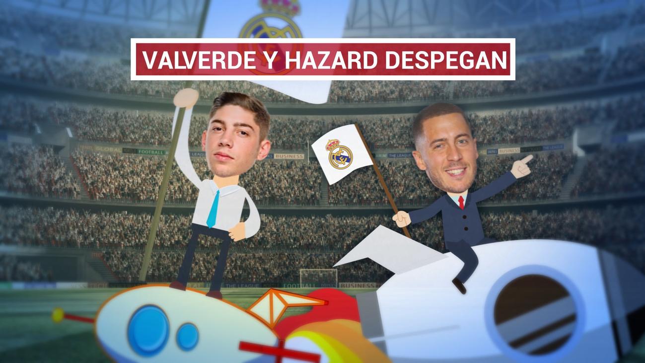 El Real Madrid carbura de la mano de Hazard y Valverde